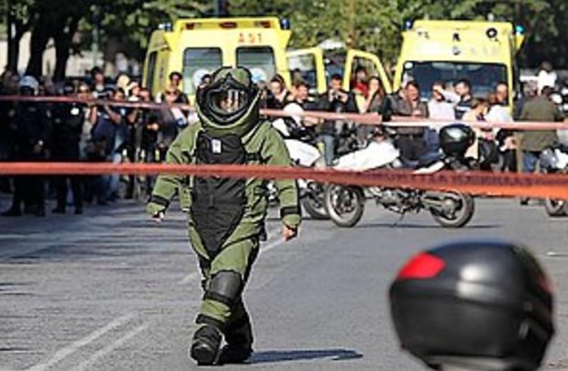 Greece bomb_311 (photo credit: ASSOCIATED PRESS)