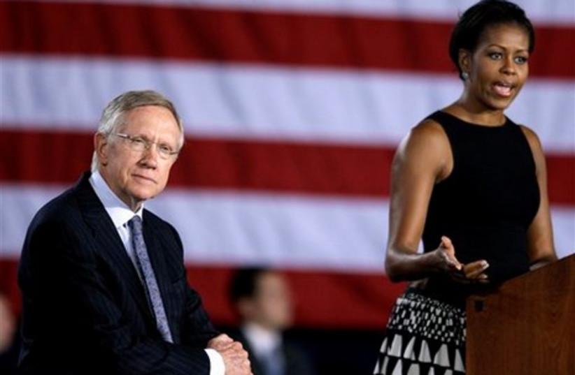 Nevada Senator Harry Reid with Michelle Obama