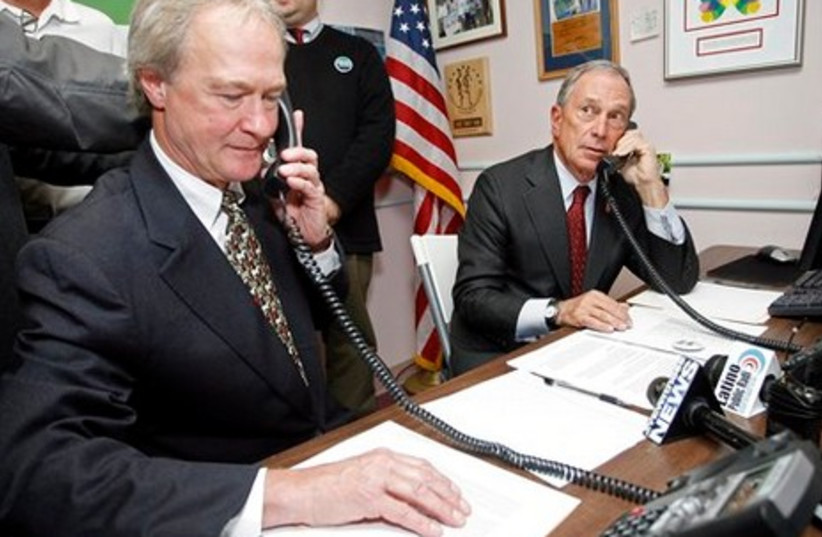 Rhode Island's Lincoln Chafee with Mike Bloomberg