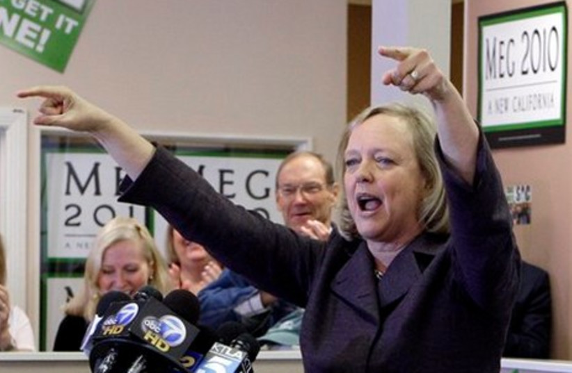 Californian candidate for governor Meg Whitman (R)