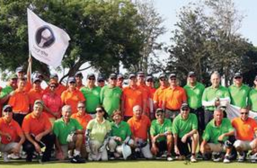 GA'ASH  Caesarea golf teams (photo credit: Nimrod Gluckman)