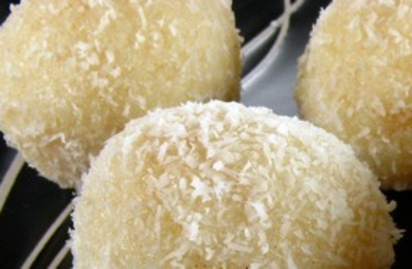 Coconut Laddu  311 (photo credit: Chacko's Kitchen)