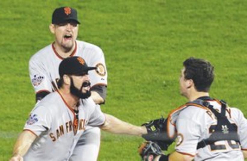 San Francisco Giants 311 (photo credit: Associated Press)
