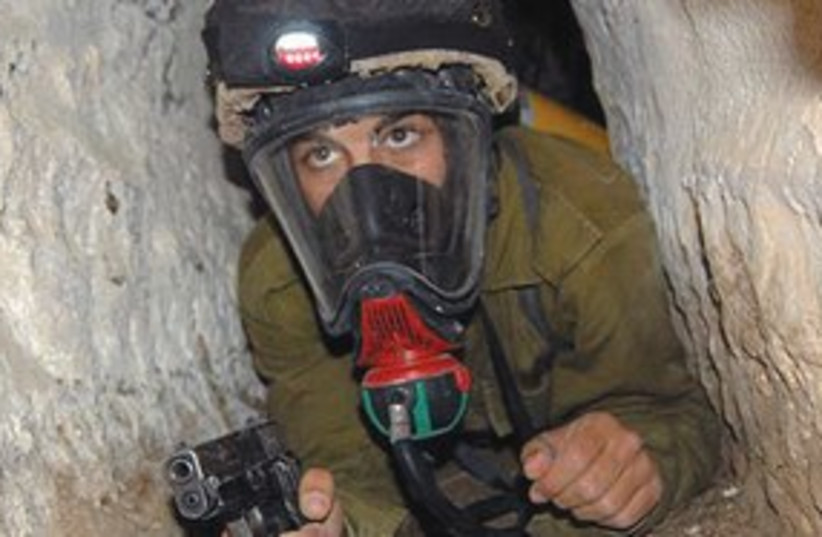 IDF soldier with oxygen 311 (photo credit: IDF)