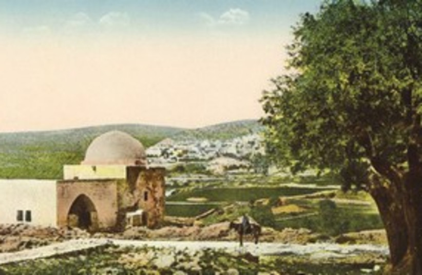 postcard showing Rachel's Tomb 311 (photo credit: Courtesy )