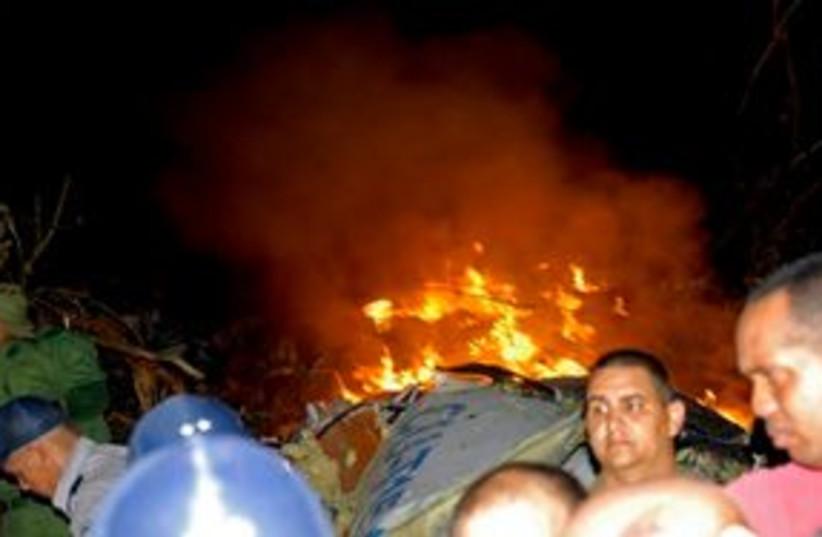 Cuban Plane Crash 311 (photo credit: Associated Press)