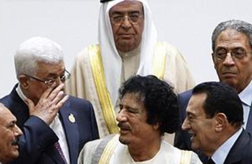 arab leaders together (photo credit: Associated Press)
