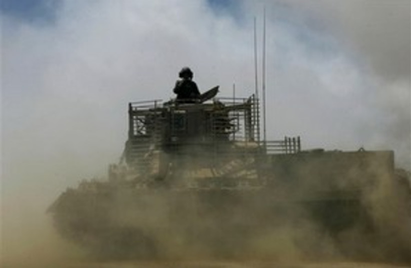 armored carrier gaza 298 (photo credit: AP)