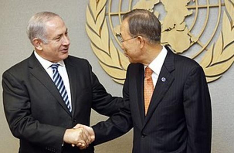 netanyahu and ban ki-moon (photo credit: ASSOCIATED PRESS)