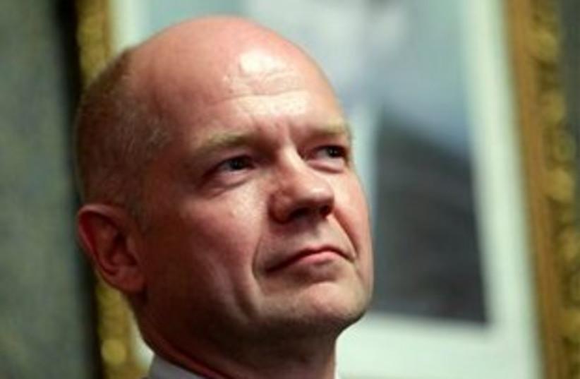 William Hague looking serious 311 (photo credit: AP Photo/Amr Nabil)