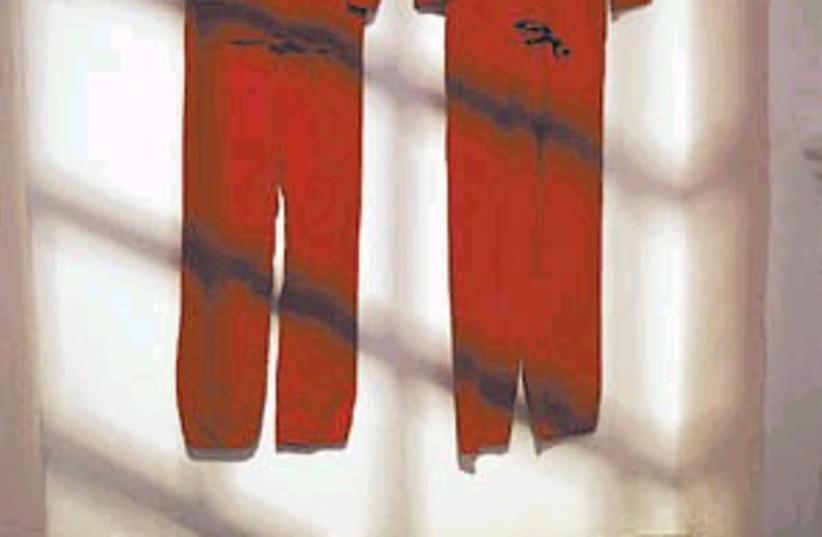 prison uniforms (photo credit: Shmuel Bar-Am)