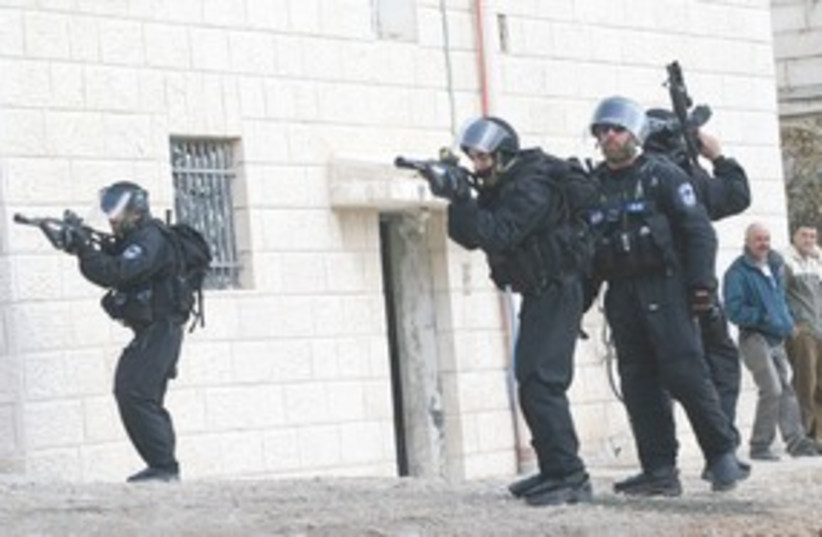 Border police training 311 (photo credit: Ariel Jerozolimski)