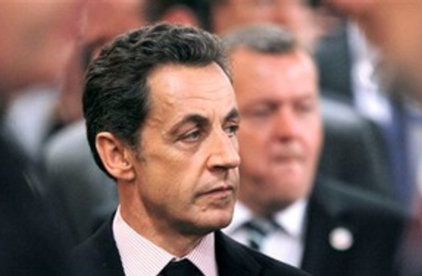 French President Nicolas Sarkozy 311 AP (photo credit: AP)