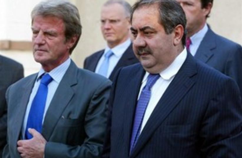 kouchner zebari iraq 298 (photo credit: AP)
