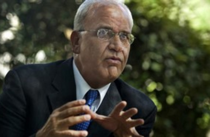 Saeb Erekat 311 AP (photo credit: AP)