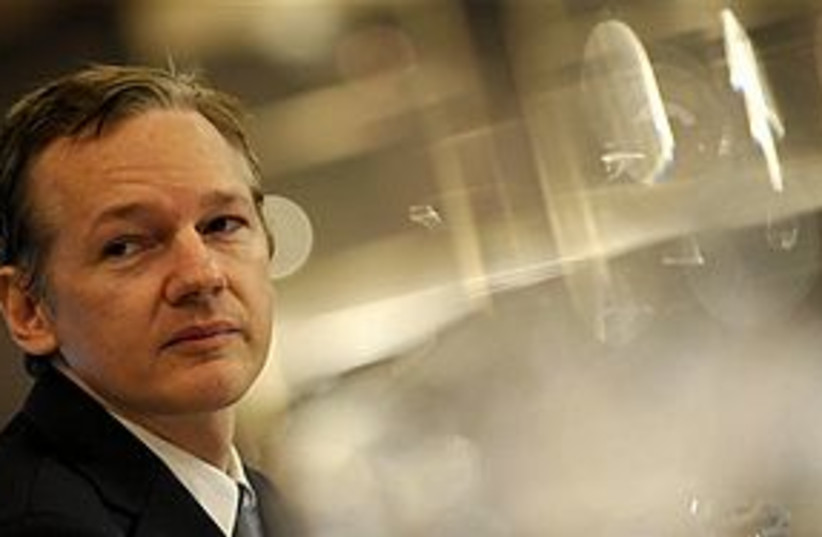 Wikileaks Julian Assange (photo credit: ASSOCIATED PRESS)