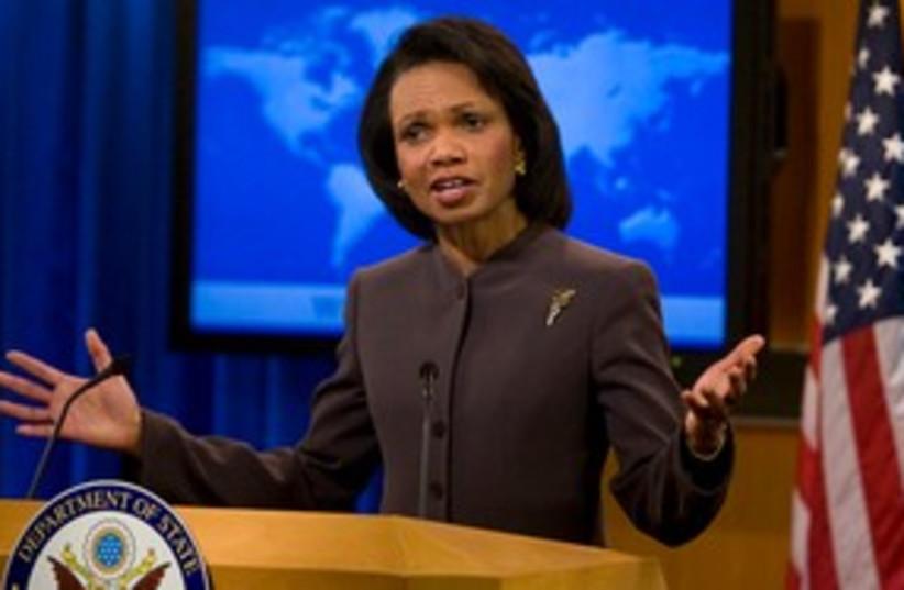 Condoleezza Rice 311 AP (photo credit: AP)