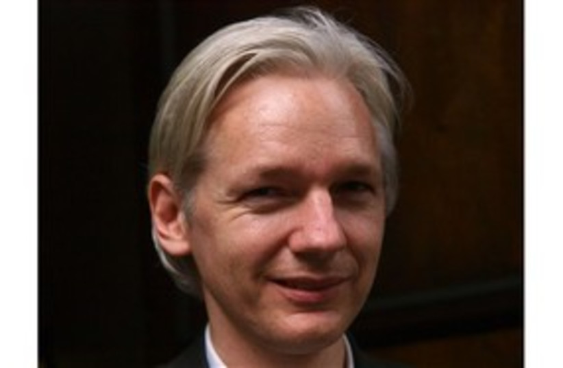 Wikileaks Julian Assange 311 AP (photo credit: AP)