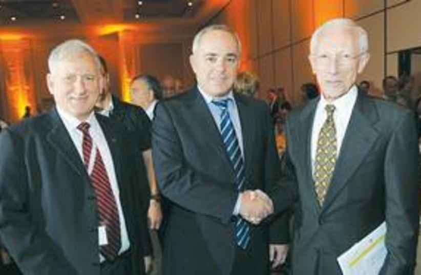 Steinitz and  Stanley Fischer 311 (photo credit: Courtesy)
