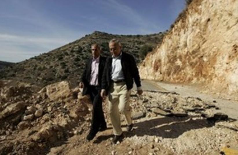 Fayyad walks 311 (photo credit: Associated Press)