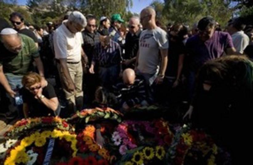 Eran Weizel funeral 311 AP (photo credit: Associated Press)