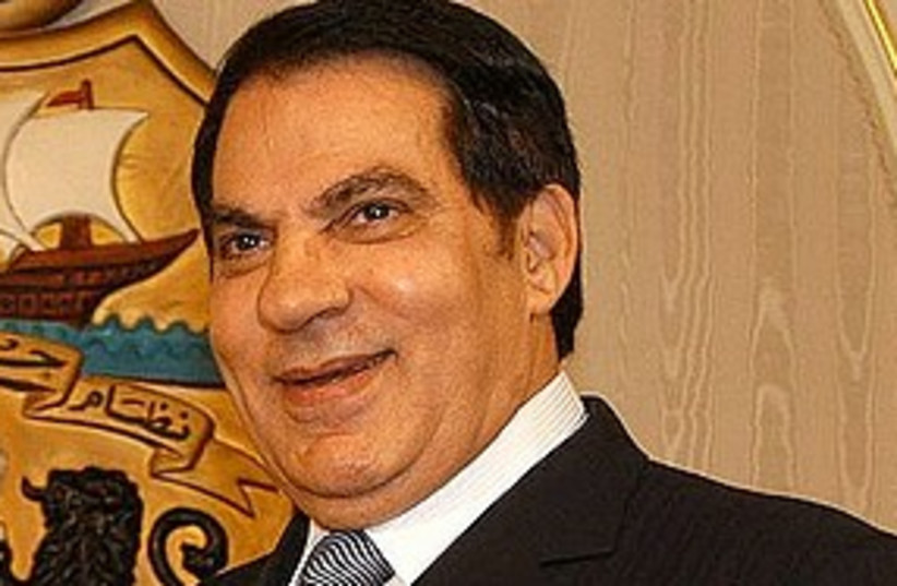 Tunisia president Ben Ali (photo credit: Courtesy [archive])