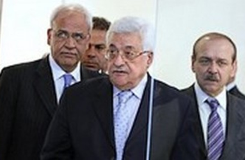311_ Abed Rabbo, Abbas and Erekat (photo credit: ASSOCIATED PRESS)