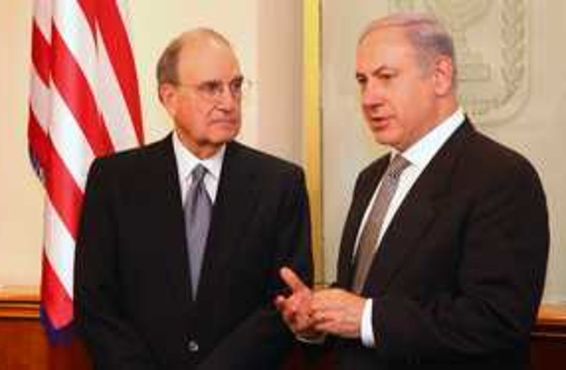Netanyahu and George Mitchell 311 (photo credit: Marc Israel Sellem)