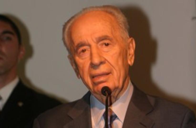President Shimon Peres podium 311 (photo credit: Replay Productions)