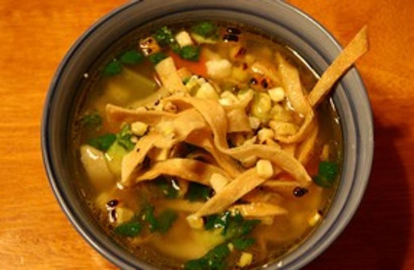 Tortialla Soup 311 (photo credit: GOURMETKOSHERCOOKING.COM)