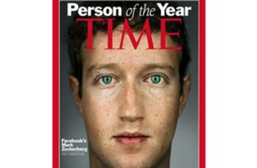 Mark Zuckerberg Time person of year 311 (photo credit: AP)