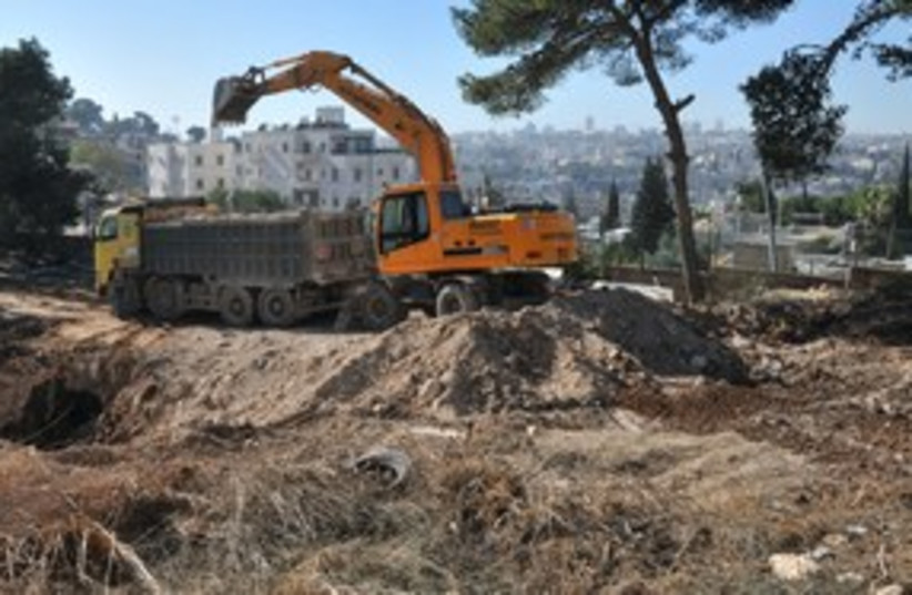 Construction at Mount of Olives (photo credit: MELANIE LIDMAN)
