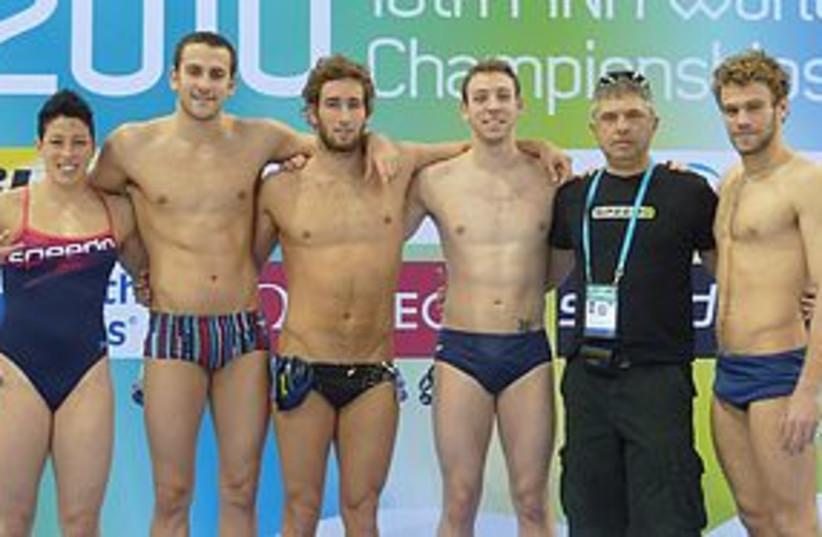Israel swimming team (photo credit: Israel Swimming Association))