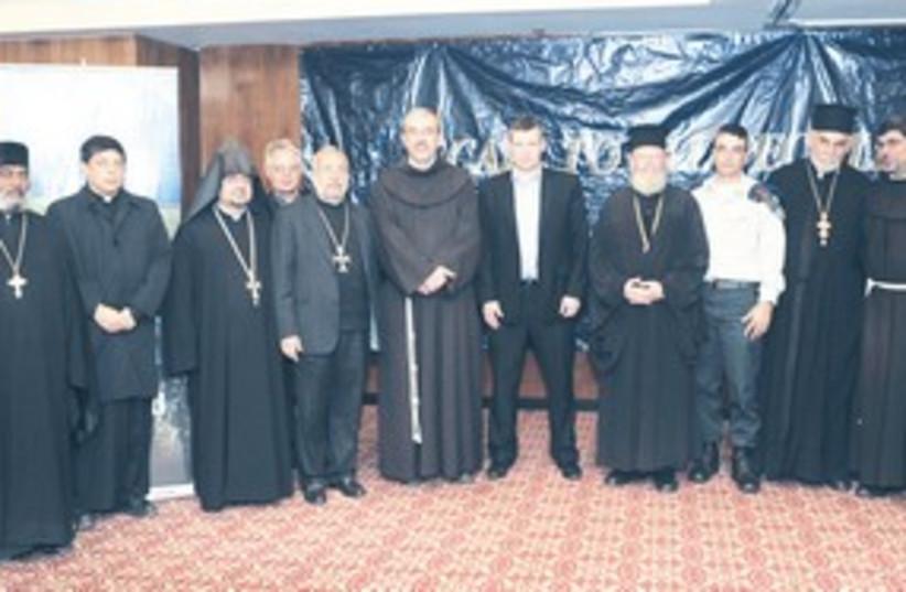 Tourism Minister Meseznikov with Christian leaders 311 (photo credit: Tourism Ministry / Sasson Tiram)