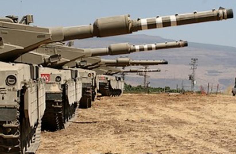 idf tanks north 298.88 (photo credit: Ariel Jerozolimski)