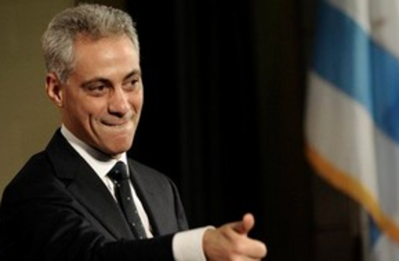 Rahm Emanuel thumbs up 311 (photo credit: AP Photo/Paul Beaty, File)