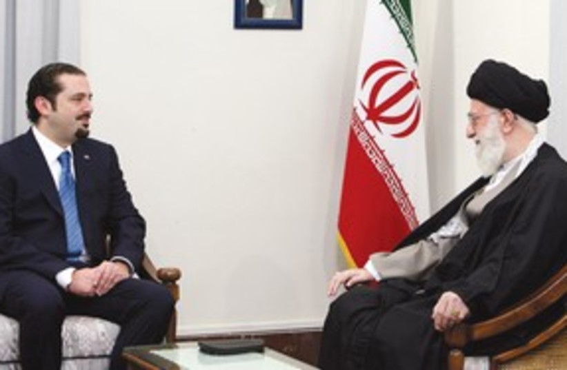 Hariri, Khamenei meeting 311 (photo credit: AP)