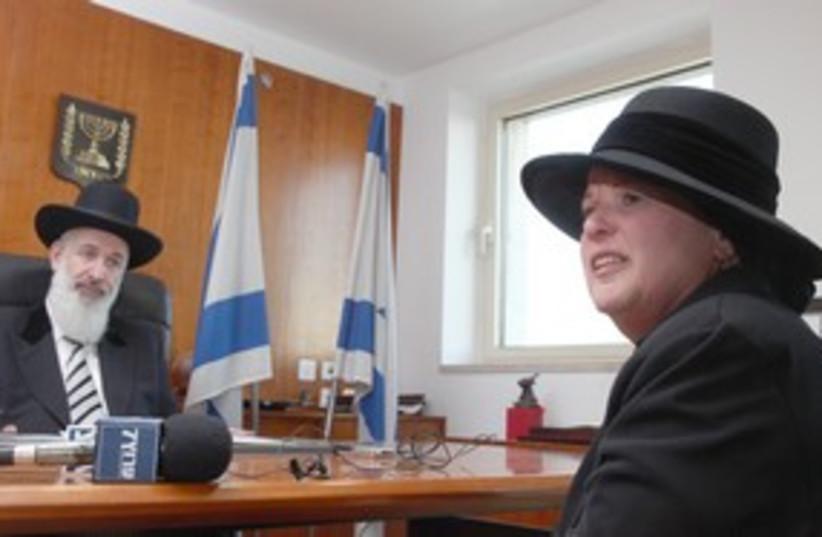Esther Pollard with Metzger 311 (photo credit: Marc Israel Sellem/The Jerusalem Post)