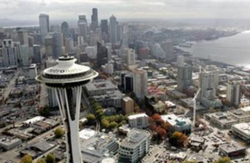 Seattle skyline space needle 311 (photo credit: AP)