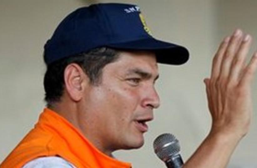Ecuador president Rafael Correa 311 (photo credit: AP Photo/Fernando Vergara)