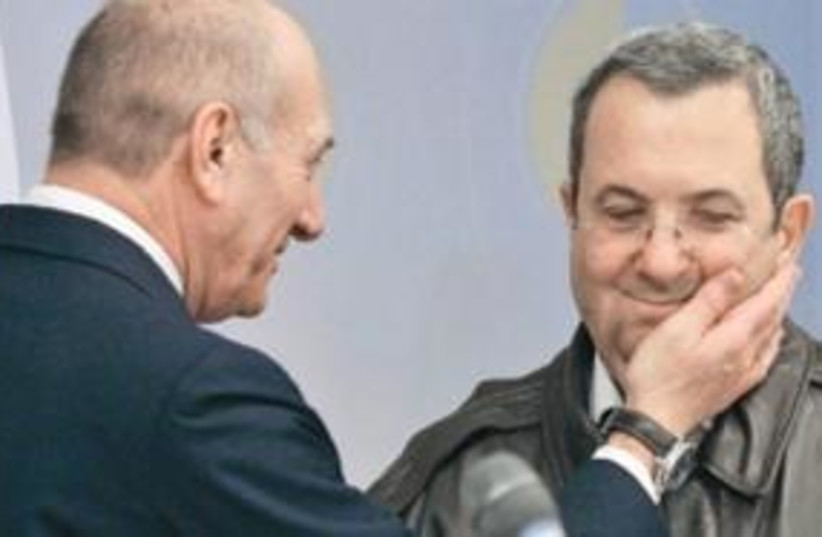 Barak and Olmert 311 (photo credit: AP)