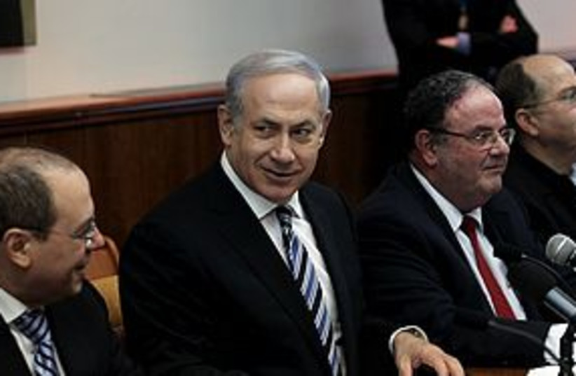 netanyahu cabinet meeting 311 (photo credit: Haim Tzach)