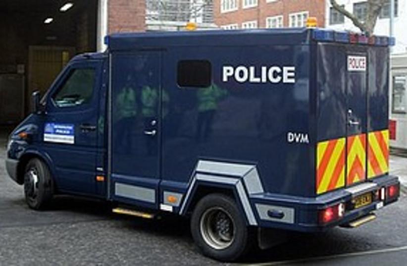 British police van UK 311 AP (photo credit: Associated Press)