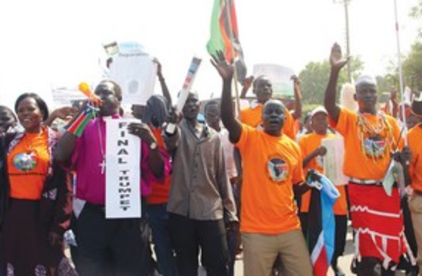 Africans protest 311 (photo credit: AP)