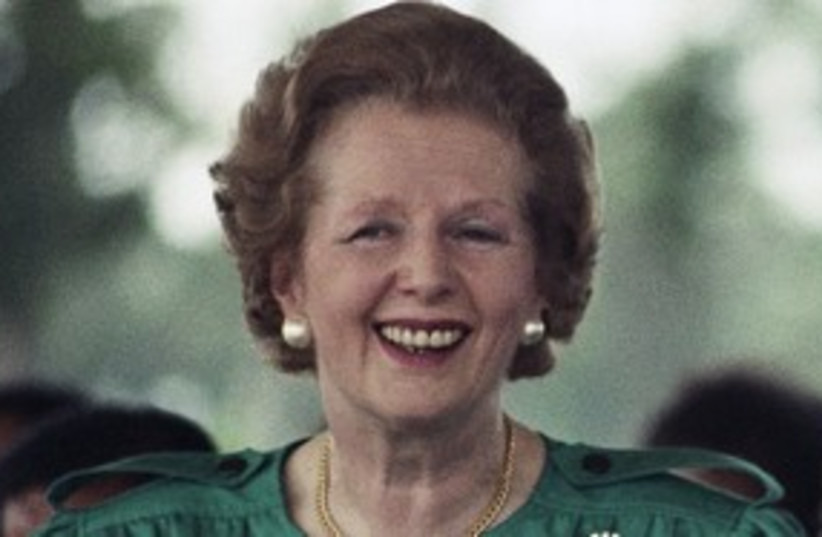 Margaret Thatcher 311 (photo credit: Associated Press)