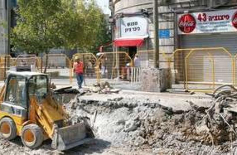jaffa road construction 311 (photo credit: Ariel Jerozolimski)