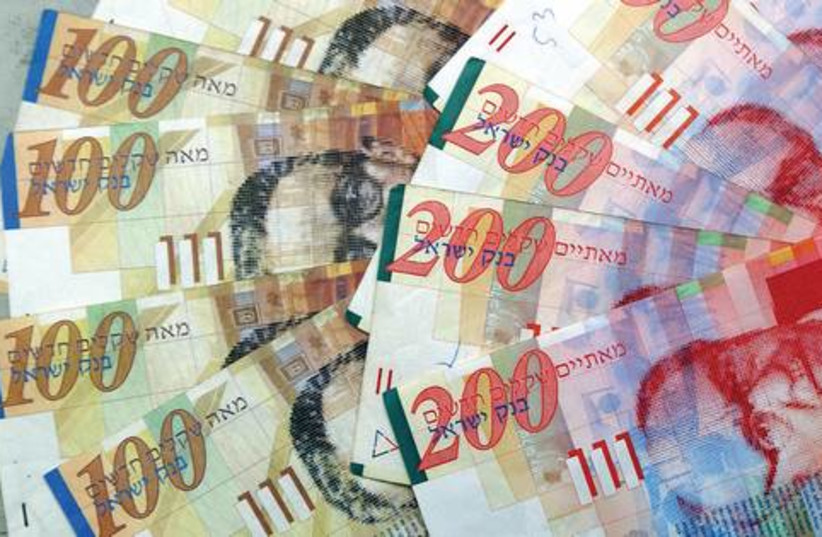 Money Shekels bills 521 (photo credit: Courtesy)