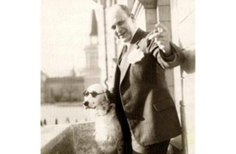 Tor Borg and his dog Jackie (Hitler) 311 (photo credit: AP)