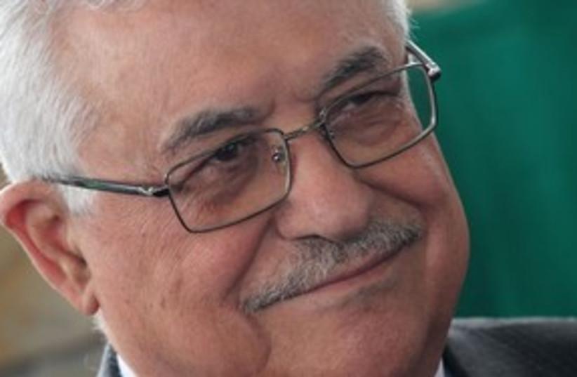 Abbas smiling 311 AP (photo credit: AP)