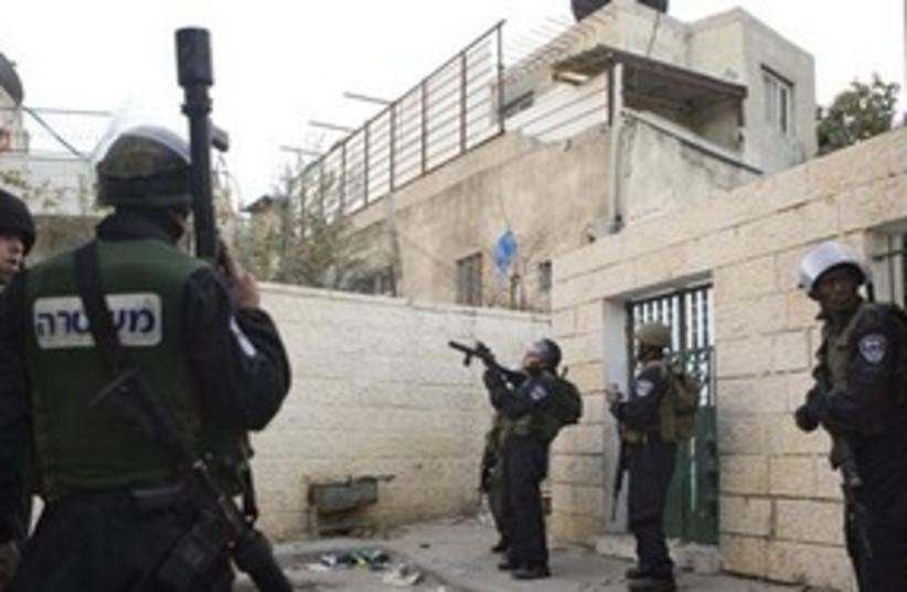 Police in east Jerusalem neighborhood of Silwan 311 AP (photo credit: AP)